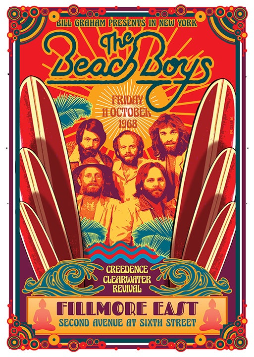 Image Of The Beach Boys At Fillmore East 1968