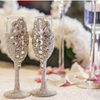 """""""Allison"""" Champagne Toasting Glasses ( available in other colors)"""