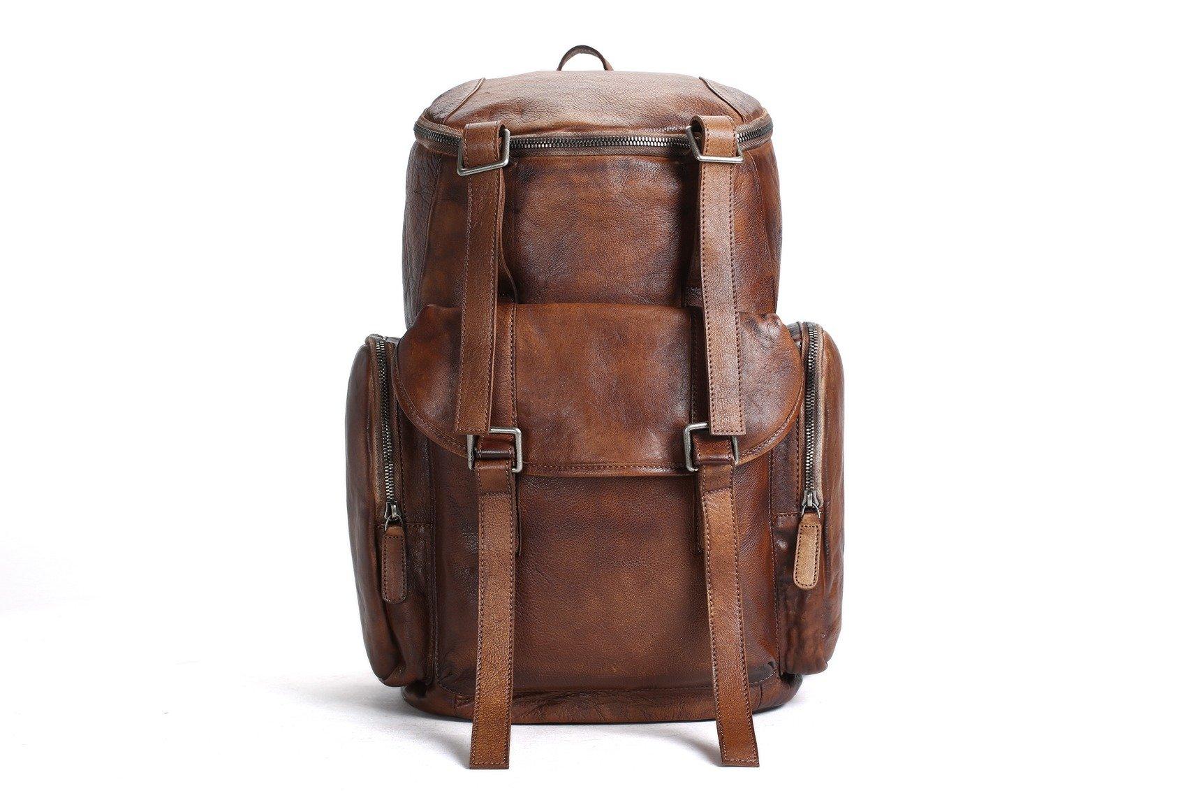 1aaf3eab38 MoshiLeatherBag - Handmade Leather Bag Manufacturer — Oversized Vintage  Leather Backpack