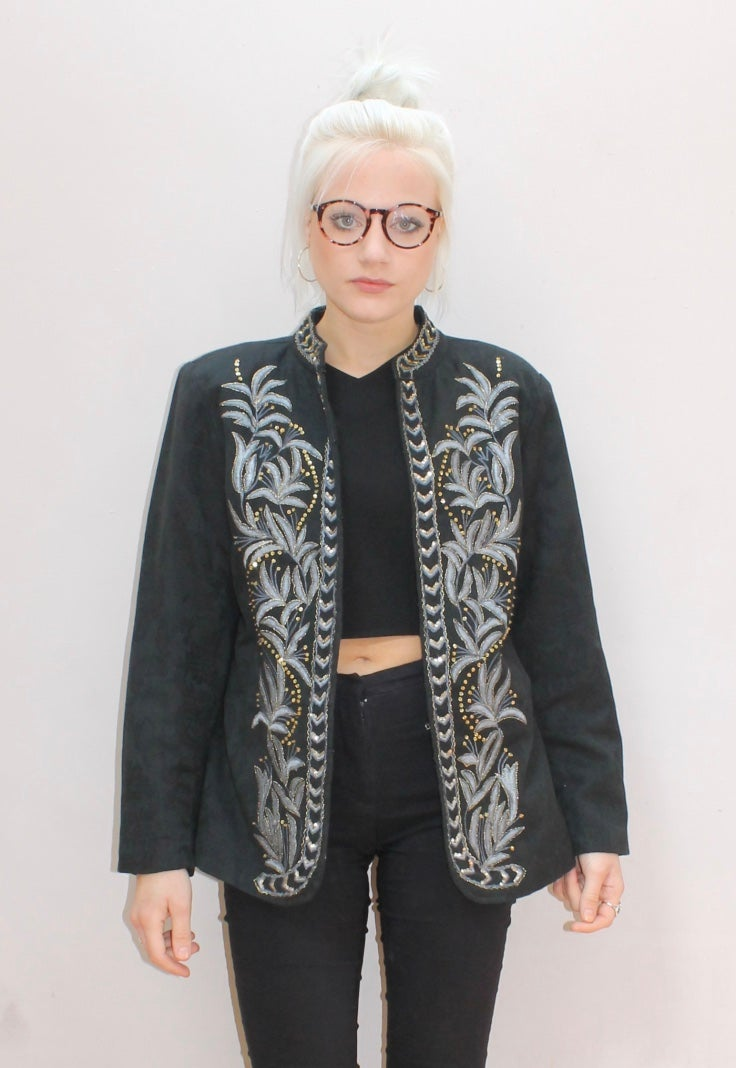 Image of Decorative Cotton Vintage Jacket