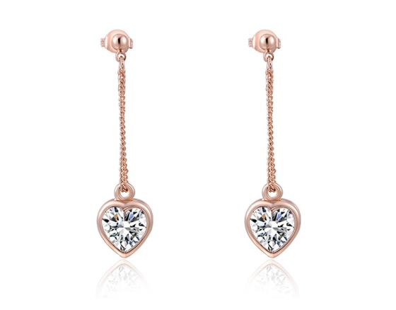 Image of Dangle my heart on a string earrings