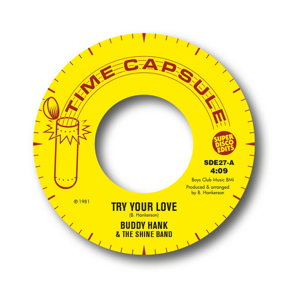 "Image of buddy hank & the shine band ""try my love"" time capsule"