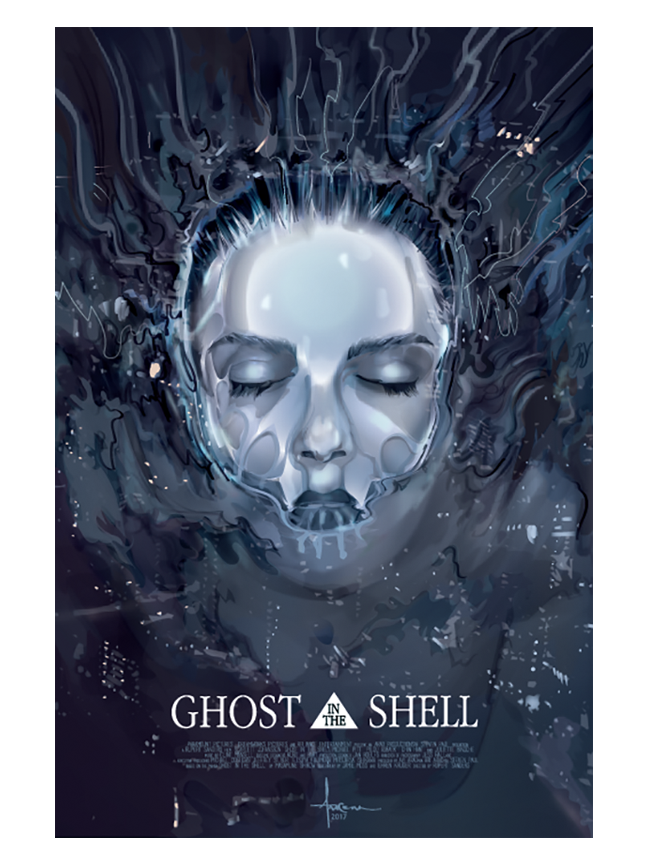 Image of GHOST IN THE SHELL- Emergence- 18x24- Edition 25
