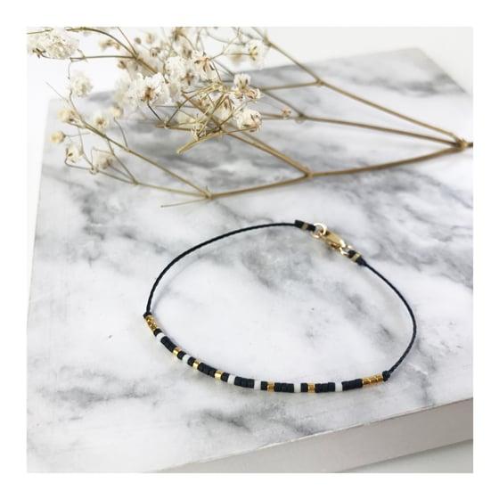 Image of Bracelet code morse •LOUISETTE• plaqué or ou argent