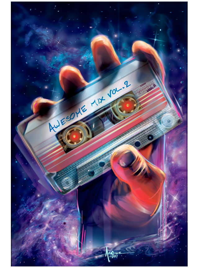 Image of AWESOME MIX VOL2- Guardians of the Galaxy- 18x24 Edtn 50