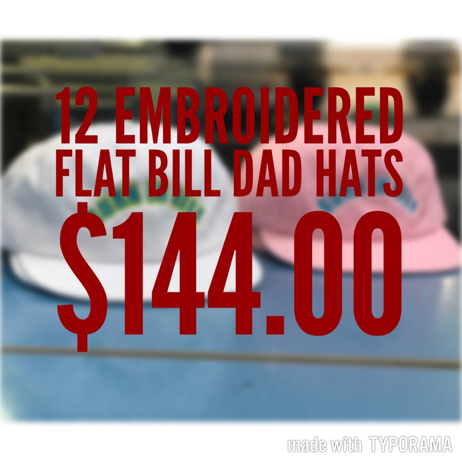 57695841523 Image of 12 Flatbill Unstructured Dad hats