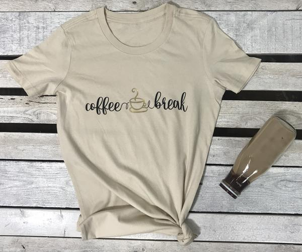 Image of Wholesale- One dozen Coffee Break Crewneck Tee