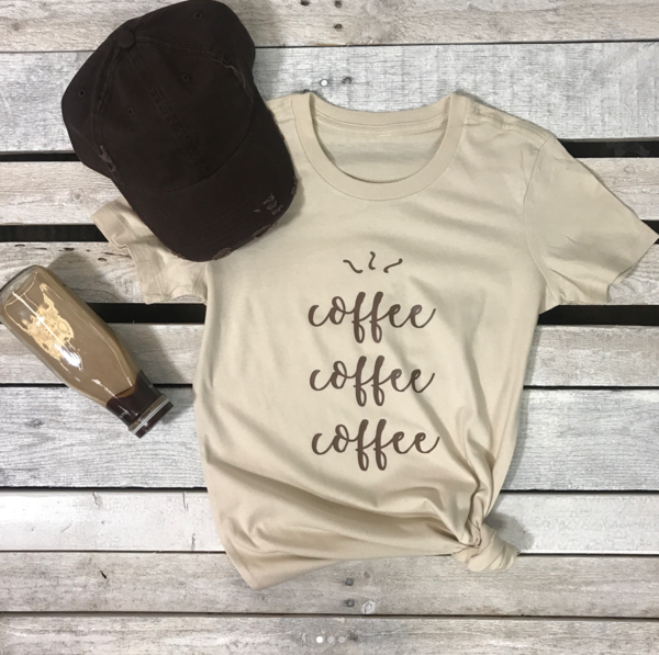 Image of Wholesale- One Dozen Coffee Coffee Coffee Crew neck Tee