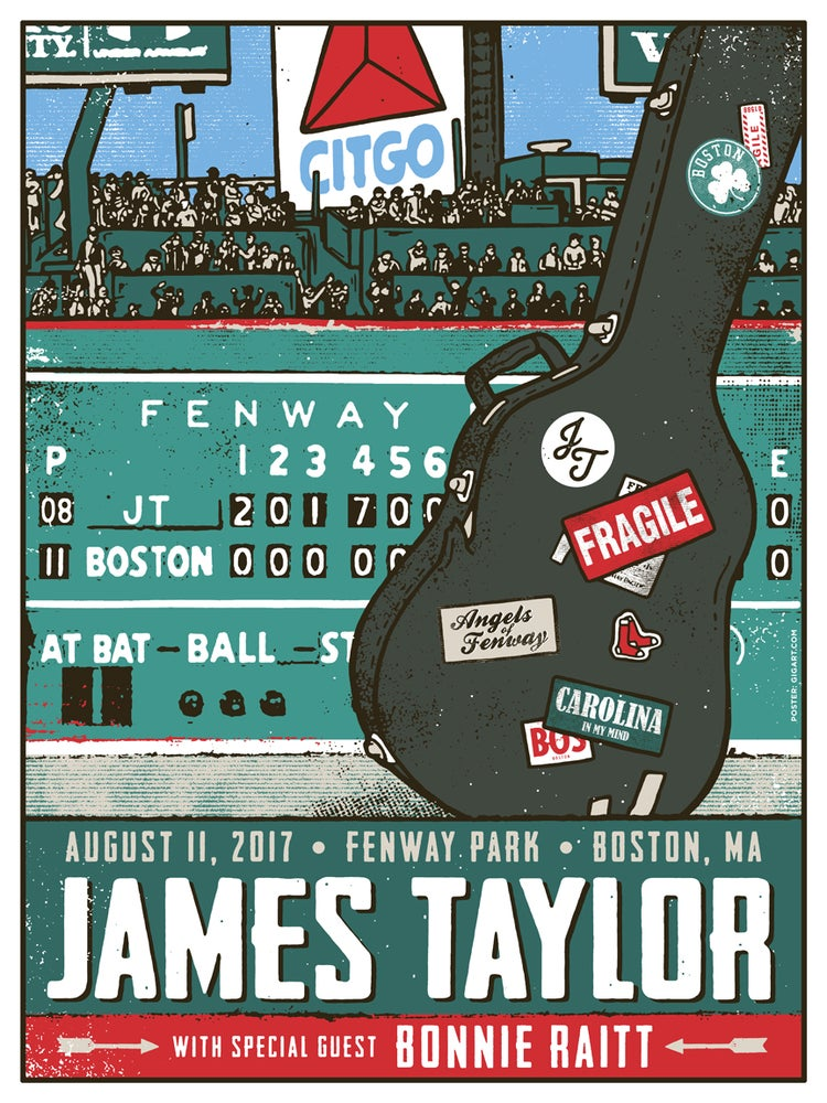 Image of James Taylor Boston Fenway 2017