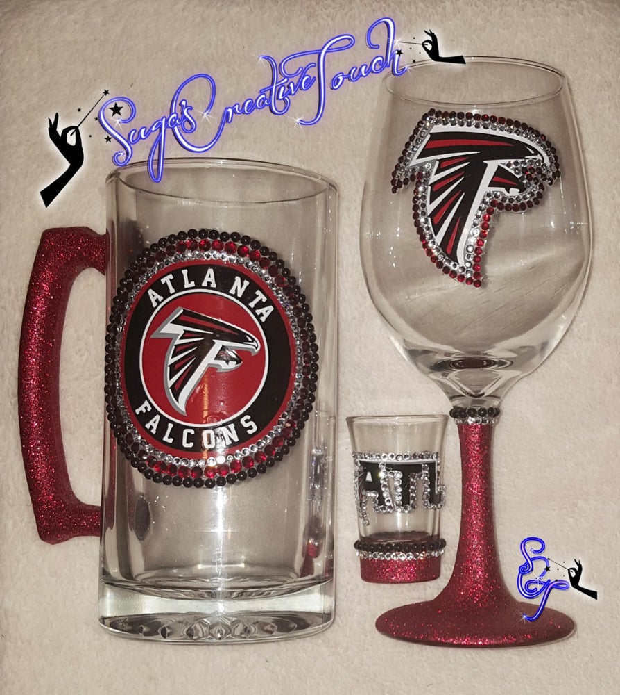 Sports Team Beer Mug And Wine Glasses