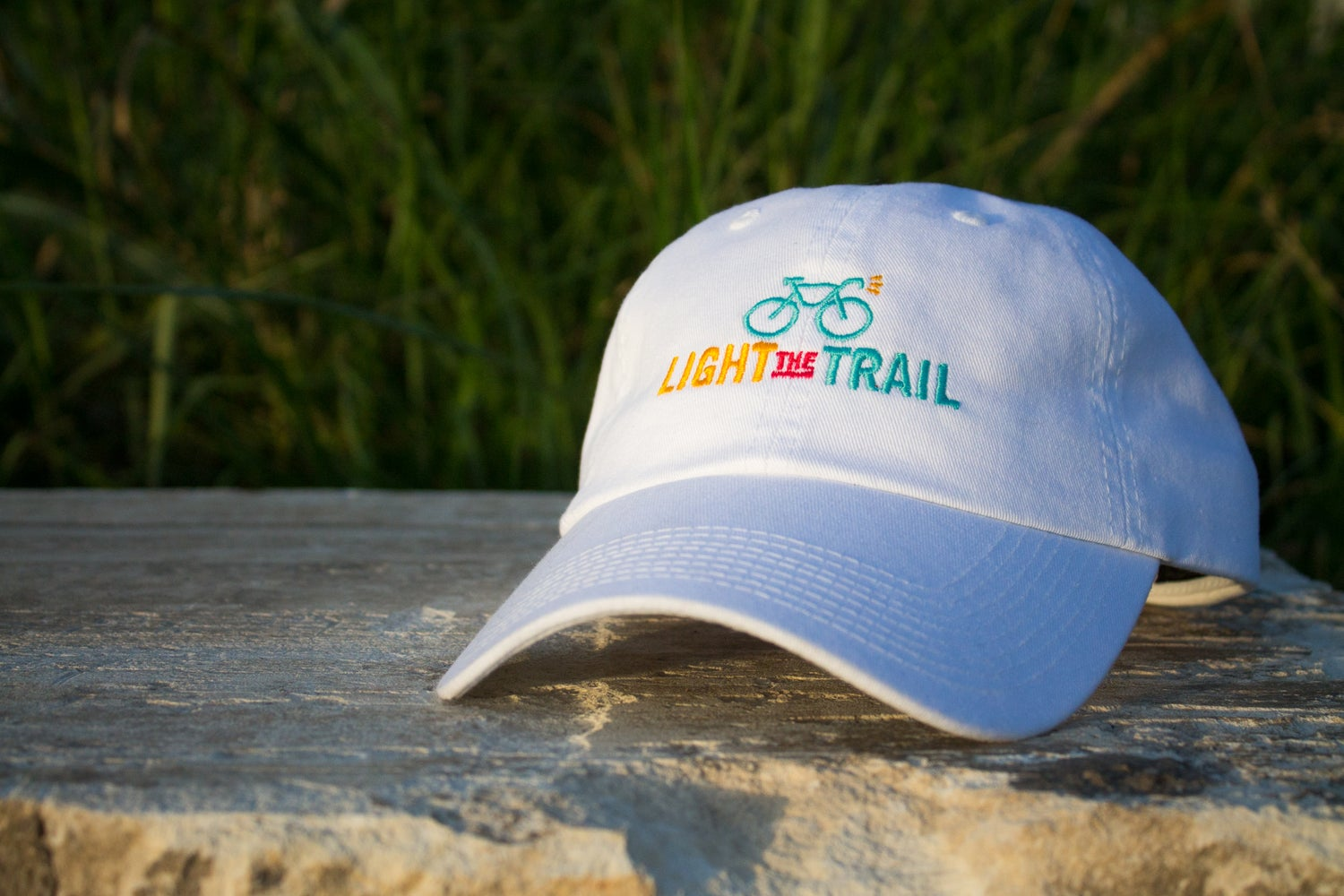 Image of Light the Trail White Embroidered Cap