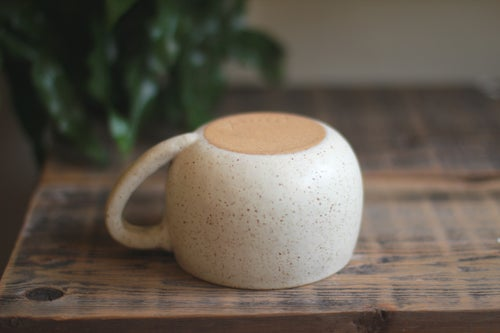 Image of White Speckled Cappiccino Mug