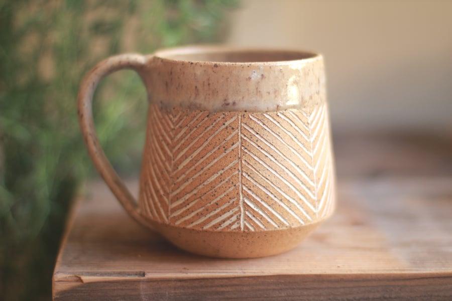 Image of Herringbone Stoneware Mug
