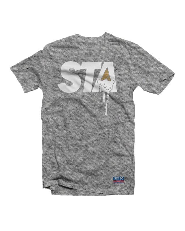 Image of STA Classic Logo Tee Heather Grey