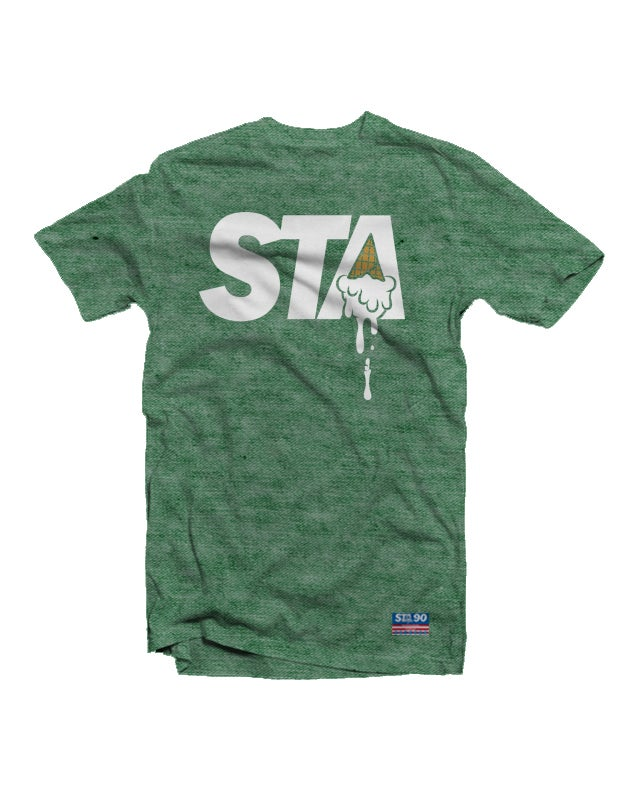 Image of STA Classic Logo Tee Heather Green