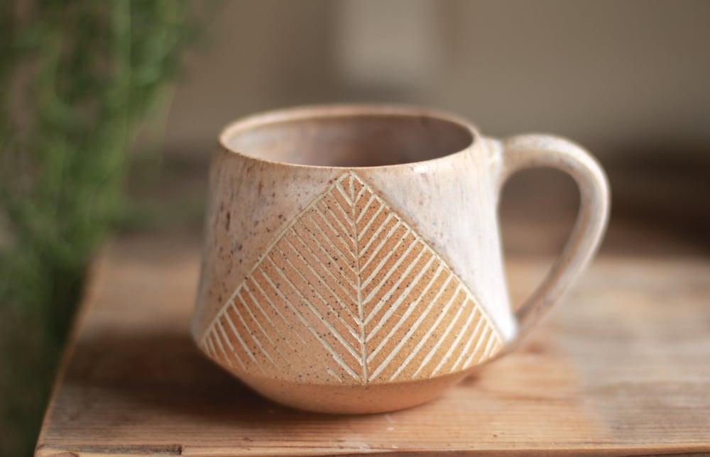 Image of Carved Stoneware Mug