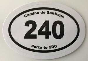 "Image of Camino Portuguese ""240km"" Sticker"