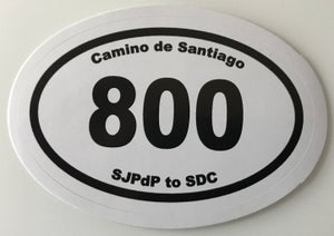 "Image of Camino ""800km"" Sticker"