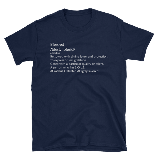 Image of Be Blessed Tee in Navy, Black, White