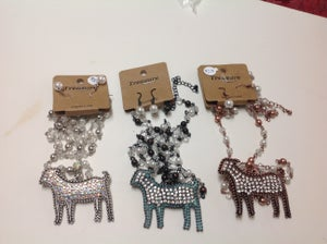 Image of Goat necklaces with 36 inch chain