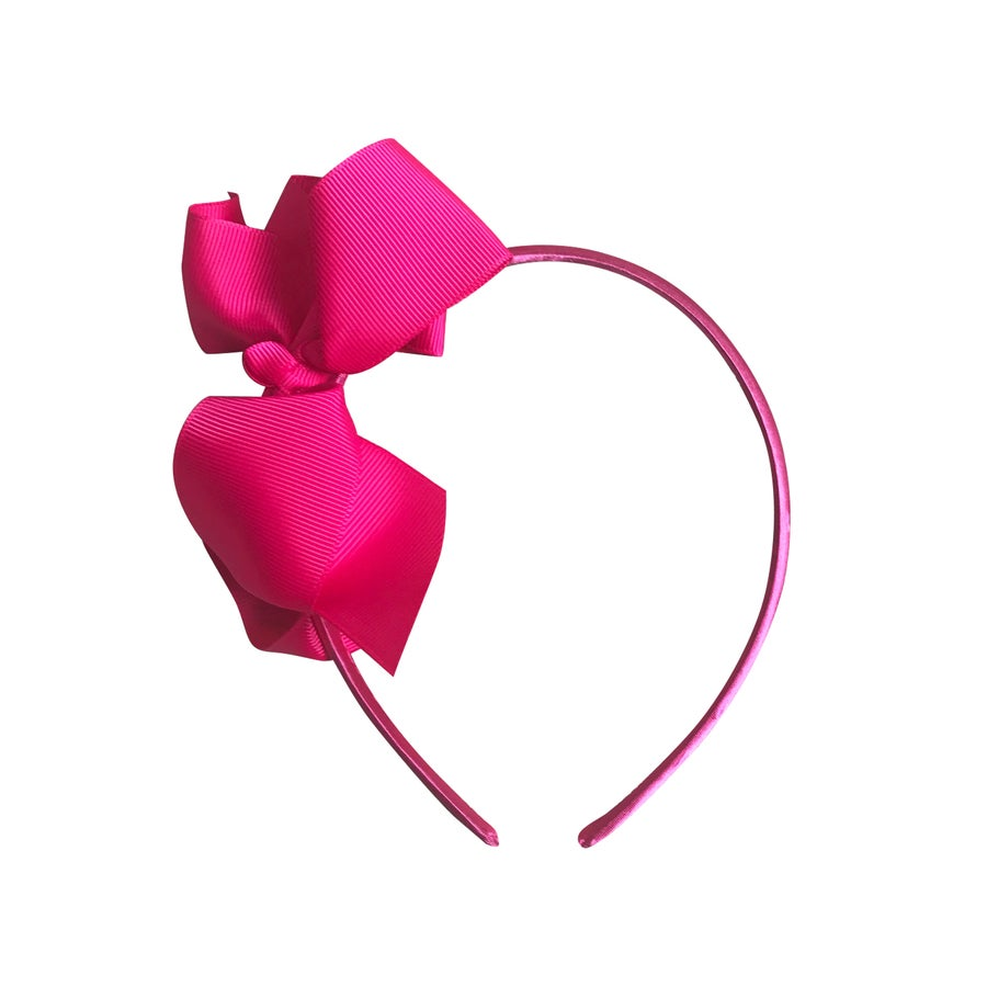 Image of Neon Pink Bow Headband