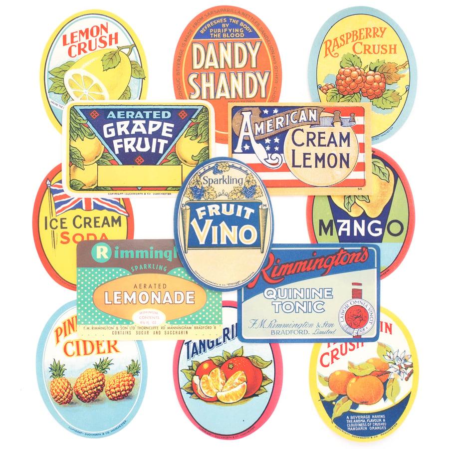 Image of Antique Beverage Labels - Set No. 1