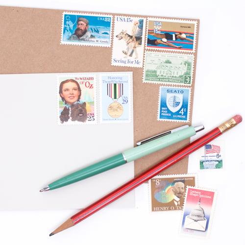 Image of Vintage Postage Stamps at Face Value - $10