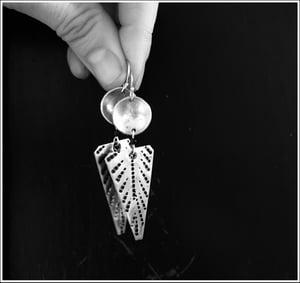 Image of Arrowhead dangle earrings