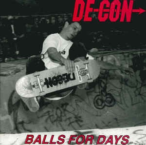 "Image of Super rare Decon CD. ""Balls For Days"""