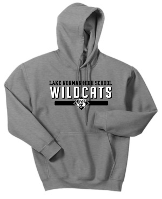 Image of Heathered Gray Lake Norman High School WILDCATS Hoodie