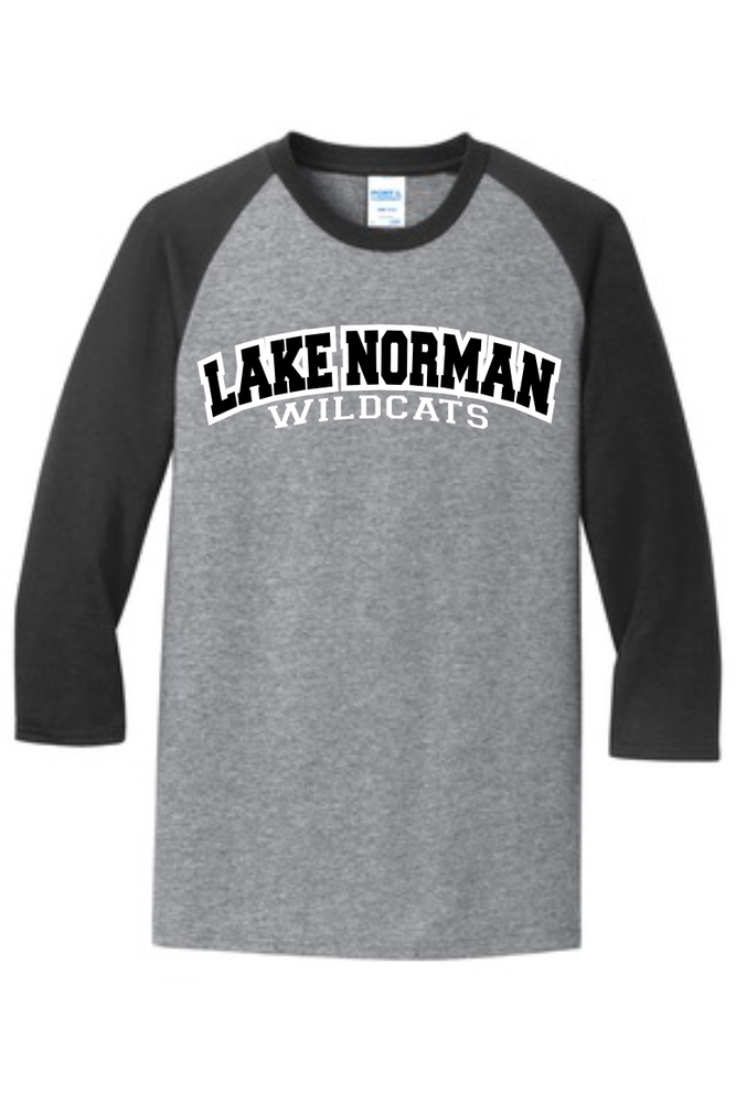 Image of Gray/Black Unisex Baseball tee