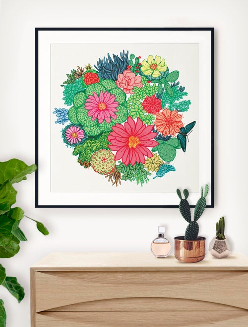 Image of 'Flowerbomb' Limited Edition Art Print