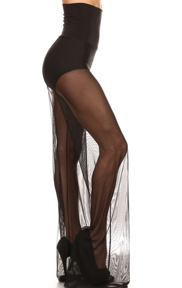 Image of Mesh Highwaisted Wide Leg Pants