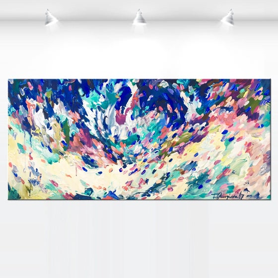 Image of Blueberry season - 100x50cm