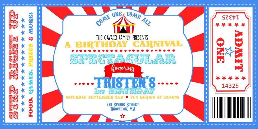 Image of Carnival Birthday Invitation