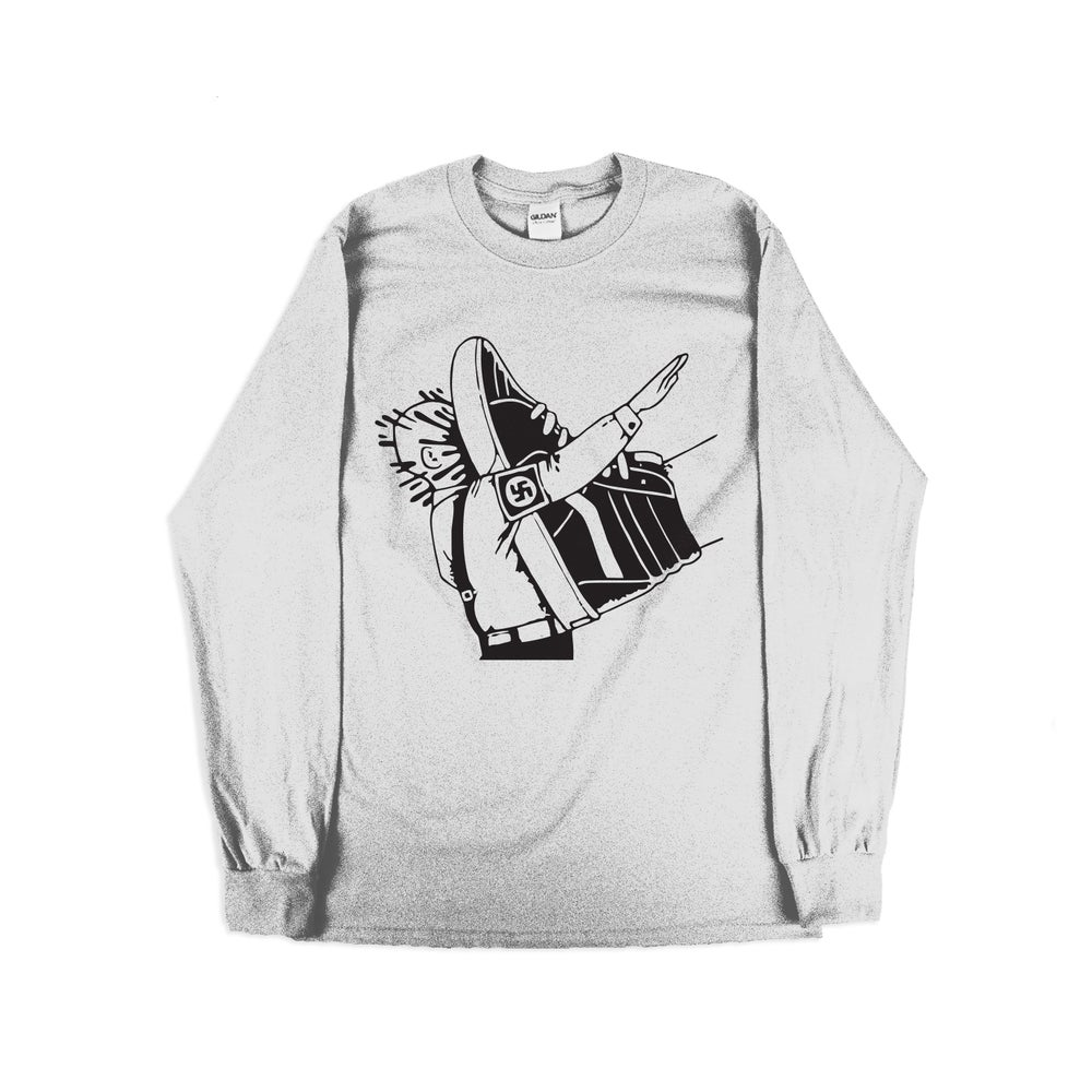 Image of Stamp Out Fascism - Long-sleeve - White Garment