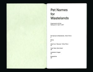 Image of Pet Names for Wastelands