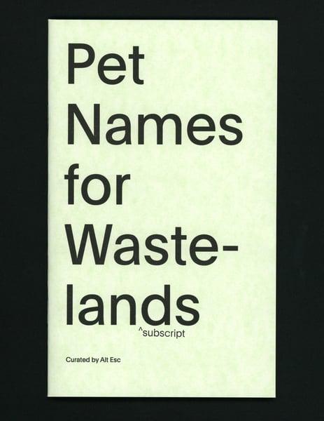 Image of Pet Names for Wastelands