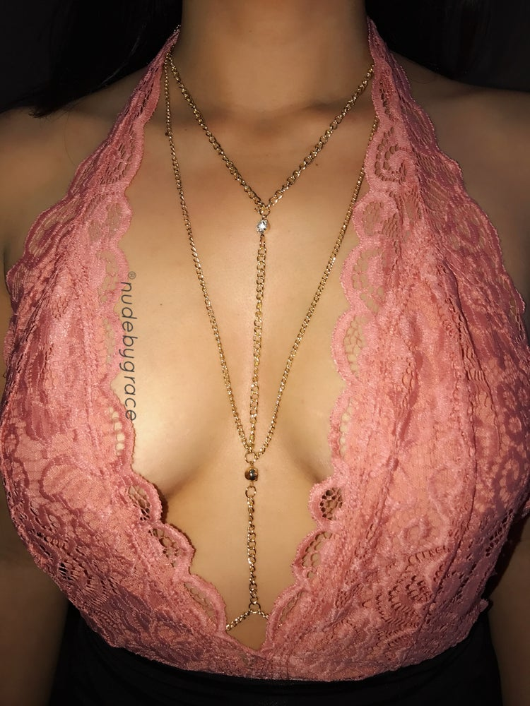 Image of RHINESTONE BODY CHAIN