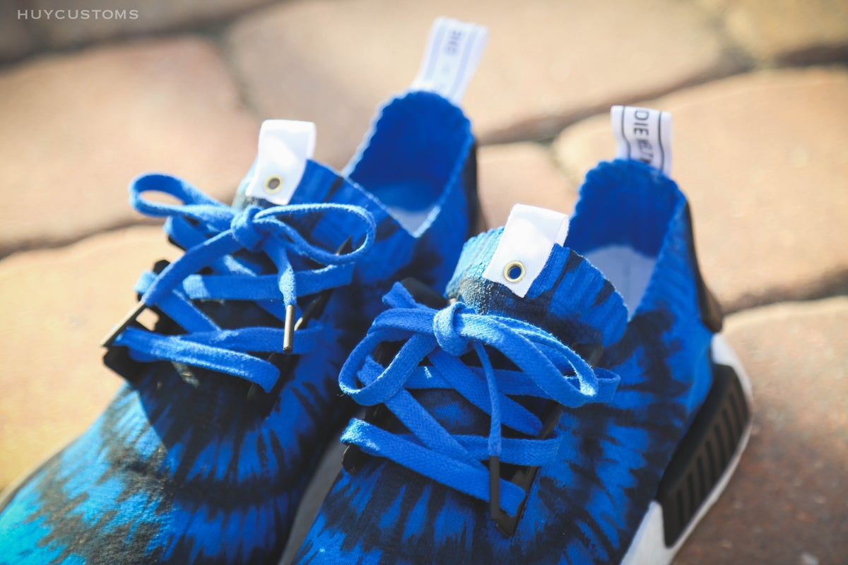"Image of NMD ""Blue Tie Dye"""