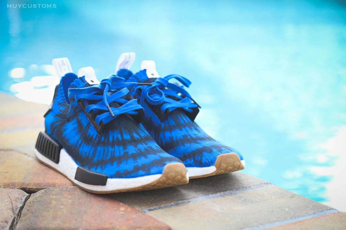 "Image of NMD ""Blue Tie Dye"""