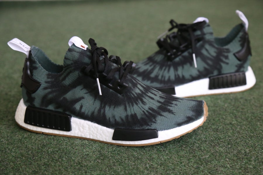 "Image of NMD ""Olive Tie Dye"""