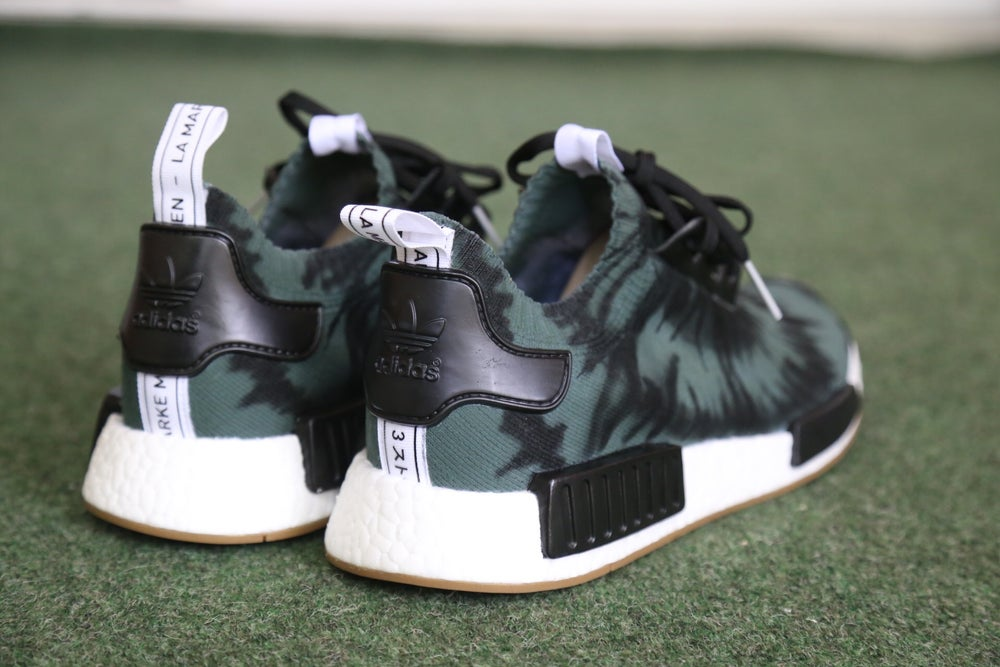 """Image of NMD """"Olive Tie Dye"""""""