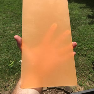 "Image of BWP Orange Glow ShokRes™ Sheets 1/8"" x 6"" x 12"""