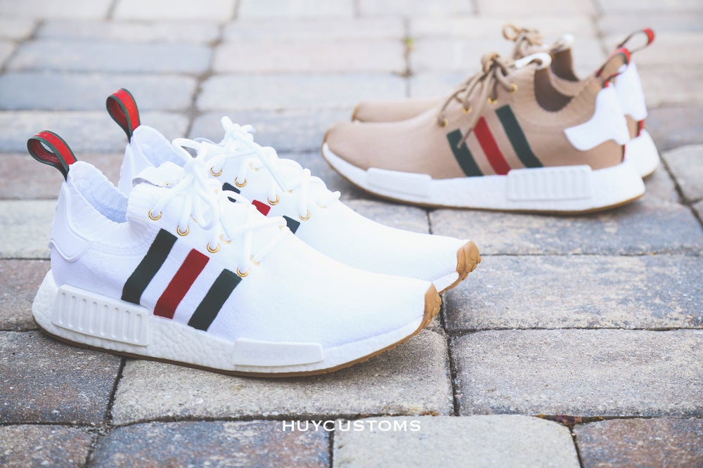 "Image of NMD White Gum ""ITALY"" custom"