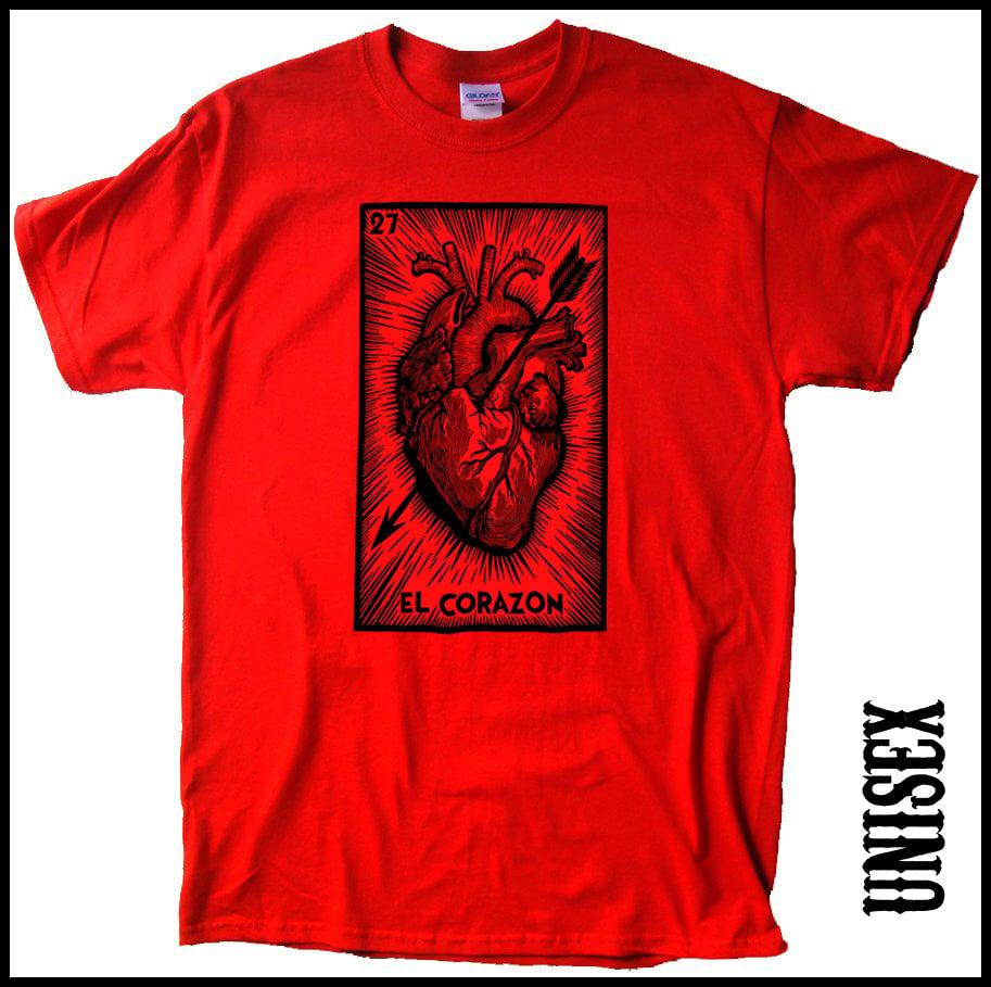 Image of El Corazon Unisex Tshirts