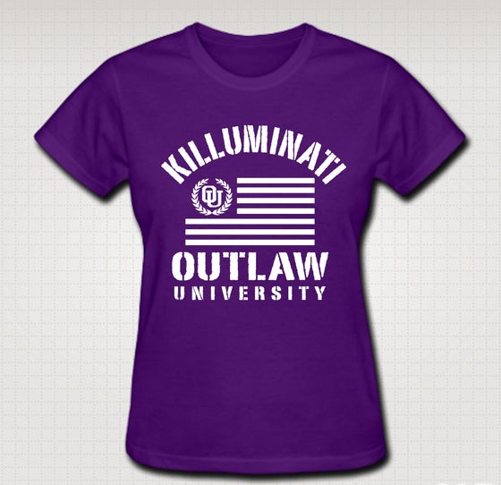 Image of Killuminati Female Baby Tee - Comes In Black, White, Red ,Purple - CLICK HERE TO SEE ALL COLORS