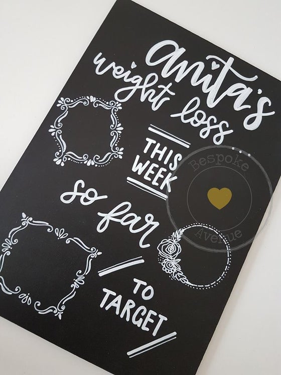 Image of Weight Loss Chalkboard