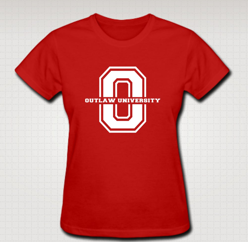Image of BIG O Female Baby Tee- Comes in Black, White,Pink,Purple,Red- CLICK HERE TO SEE ALL COLORS