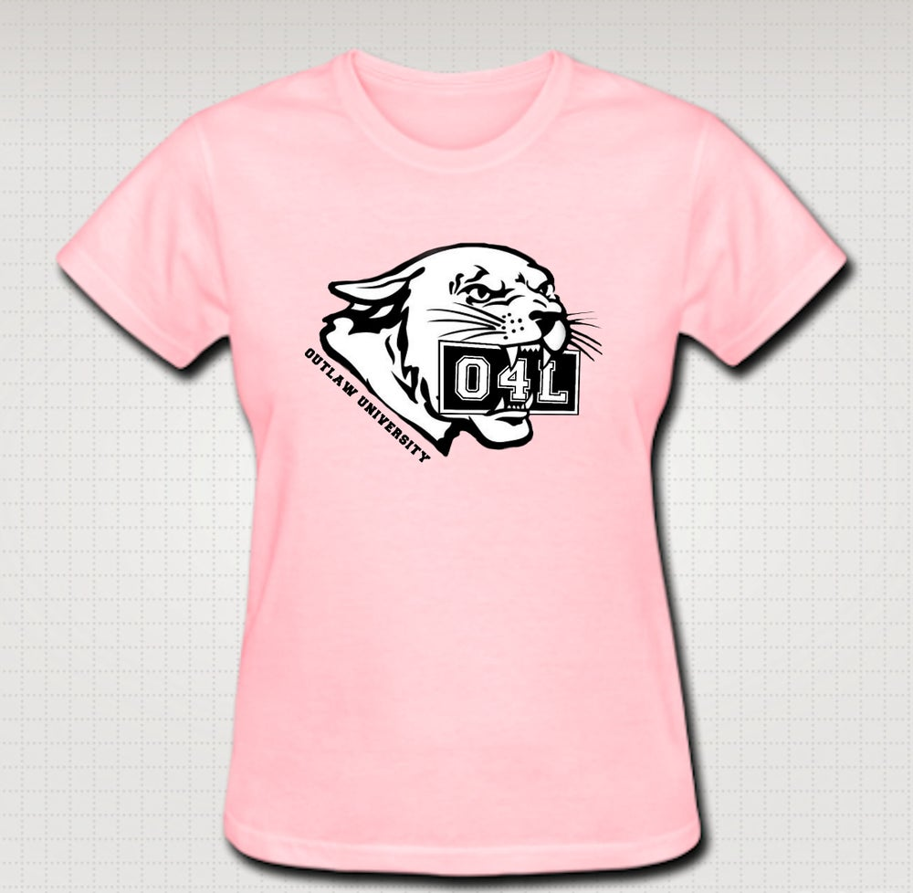 Image of O4L Panther Female Baby Tee- Comes in Black, White,Pink,Purple,Red- CLICK HERE TO SEE ALL COLORS